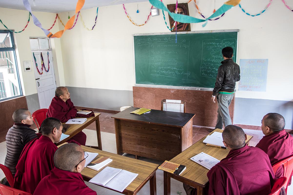 Teaching in Tibetan classroom
